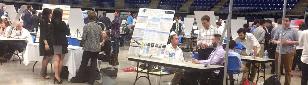 students presenting engineering projects at penn state spring showcase
